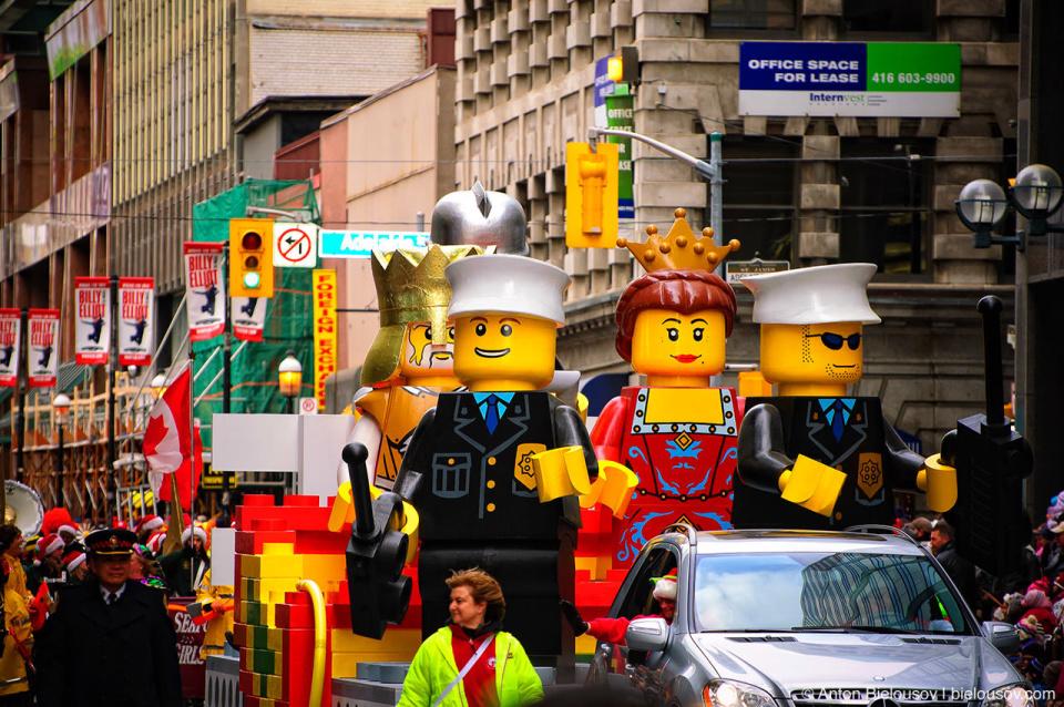 Lego Platform at the Santa Claus Parade, Toronto 2010
