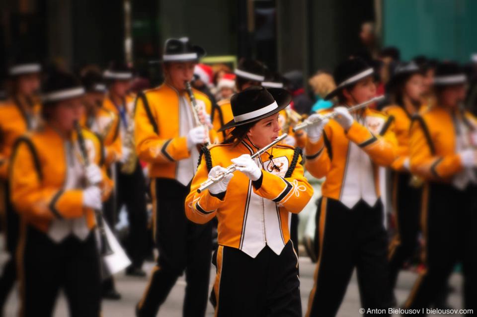 Orchestra at the Santa Claus Parade, Toronto 2010