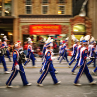 Marching bands at Santa Claus Parade, Toronto 2010