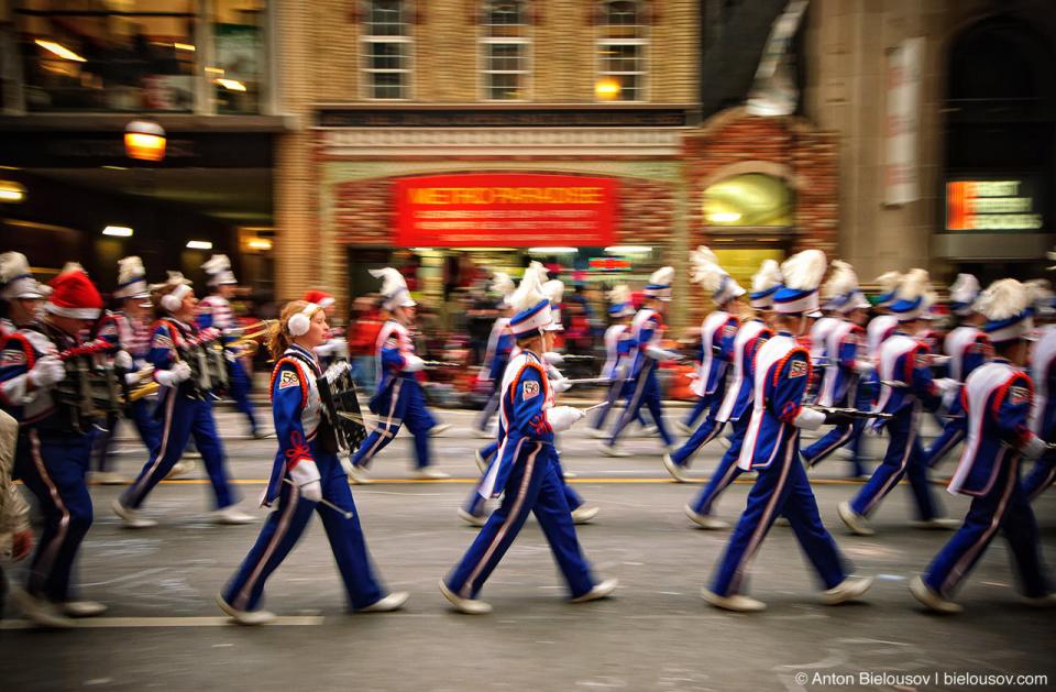 Marching bands at Santa Claus Parade, Toronto 2010