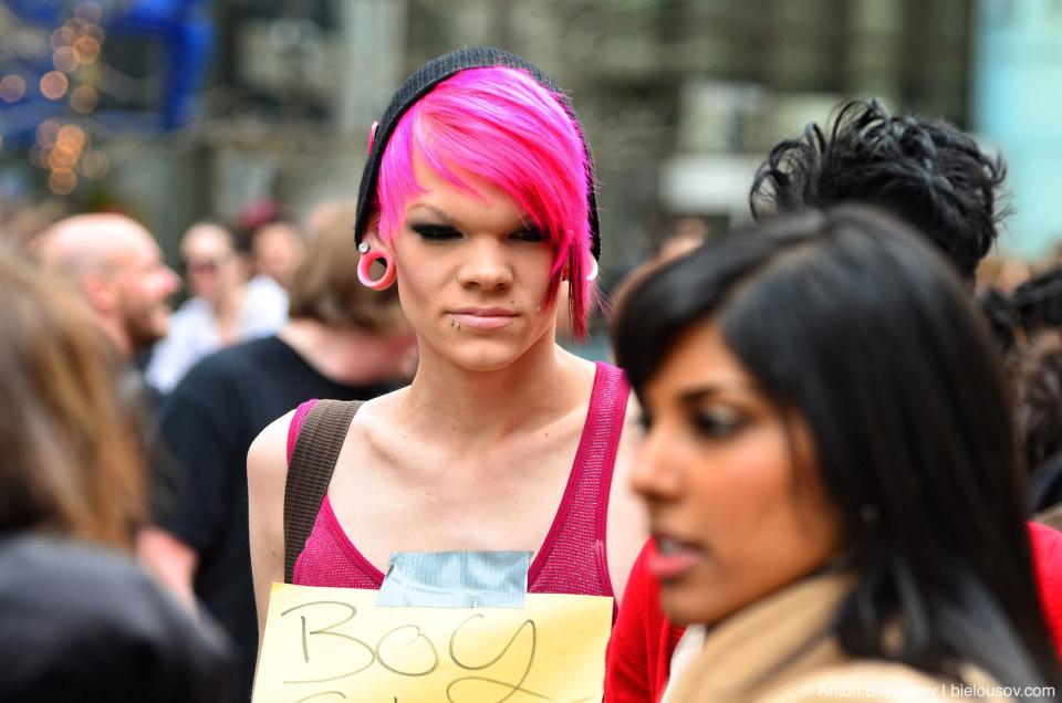 Barbie B*tch portrait at Slutwalk Toronto