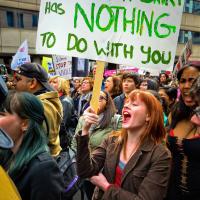 Toronto Slutwalk Shouting mob