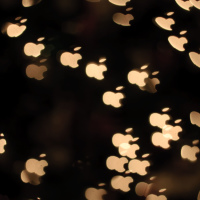 Apple logo shape bokeh