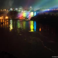 A bridge over Niagara River from Canada to USA