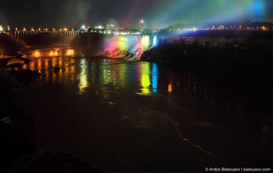 Мост нат Ниагарой, соединяющий США и Канаду