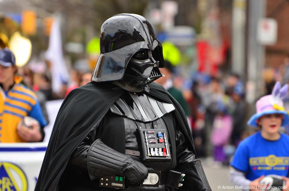 Dart Vader at Easter Parade in Toronto