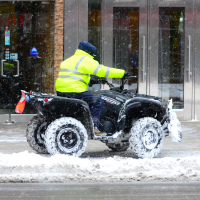 Snowplow Quadracycle in Toronto downtown