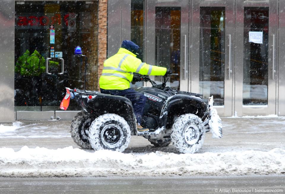 Snowplow Quadracycle in Toronto downtown