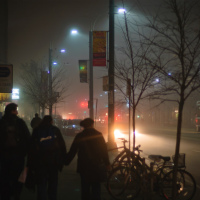 Toronto: fog on Spadina Ave.