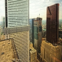 First Canadian Place and Toronto Downtown Core as seen from TD Centre 54th floor at Doors Open Toronto, 2011