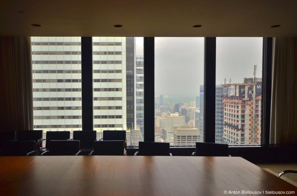 Toronto Dominion Centre 54th floor room view