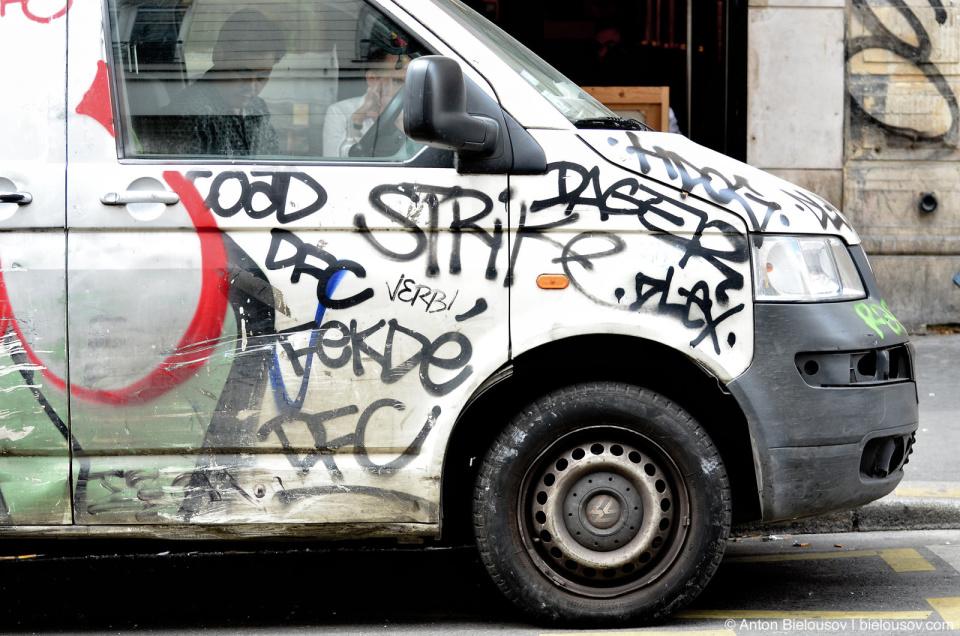 Paris Car Graffiti