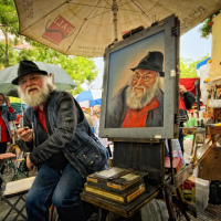 Paris Montmartre Artists Market