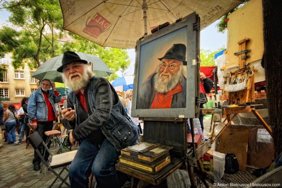 Paris Montmartre Artists Market