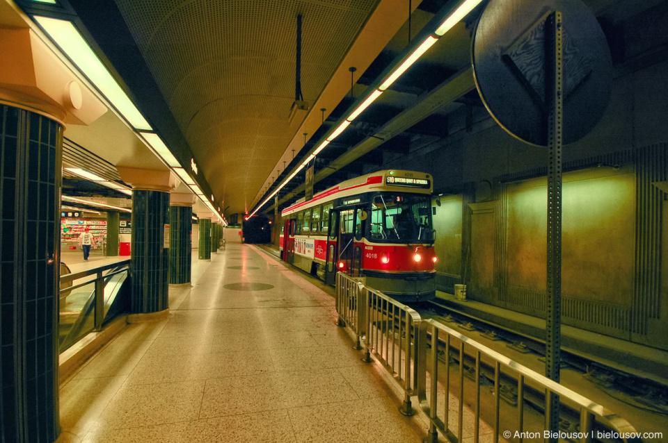 TTC Underground Streetcars Station on Spadina