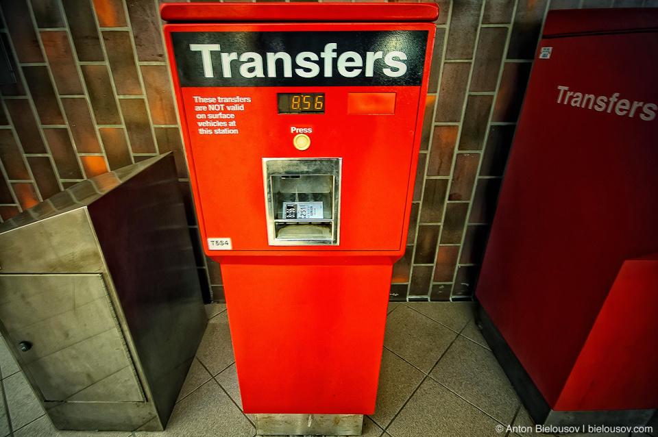Toronto TTC Transfers Machine