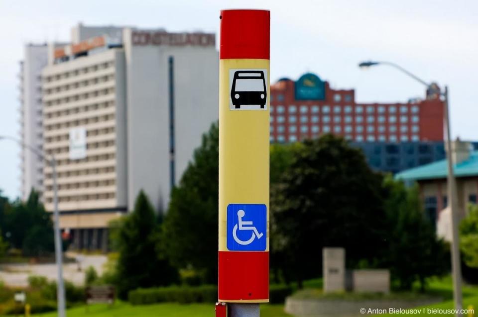 Toronto TTC Bus Stop Sign