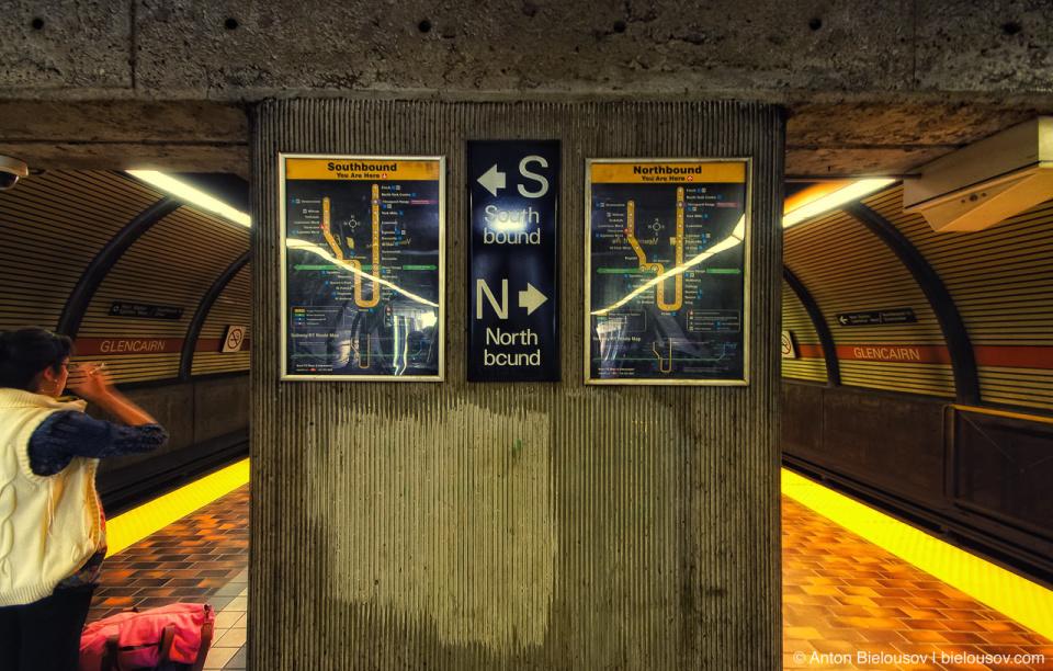 Toronto TTC Glencairn Subway Station Directions