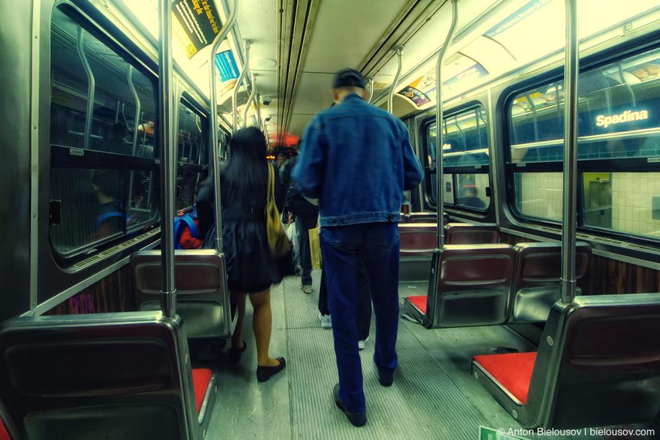 Toronto TTC Streetcar Interior