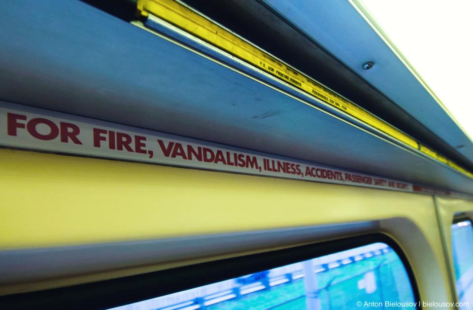 Toronto TTC Subway Emergency Strip