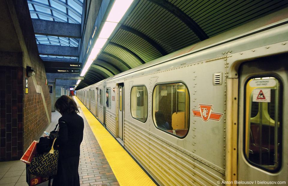 Toronto TTC Subway car on a station