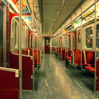 Toronto TTC Subway train car