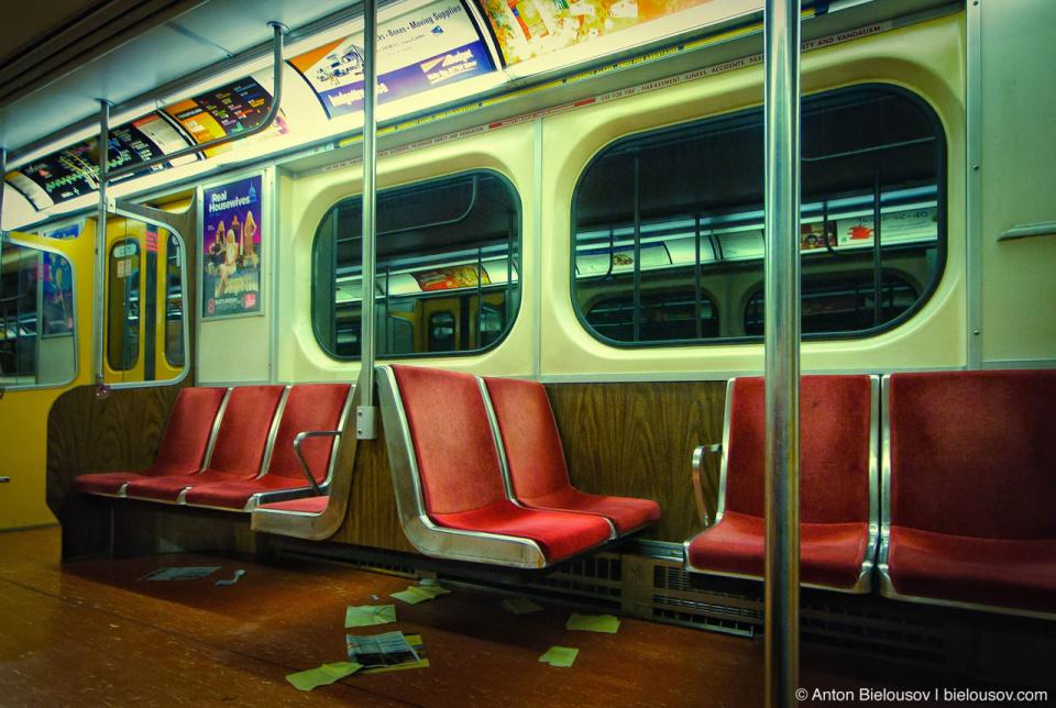 Toronto TTC Subway train car seats