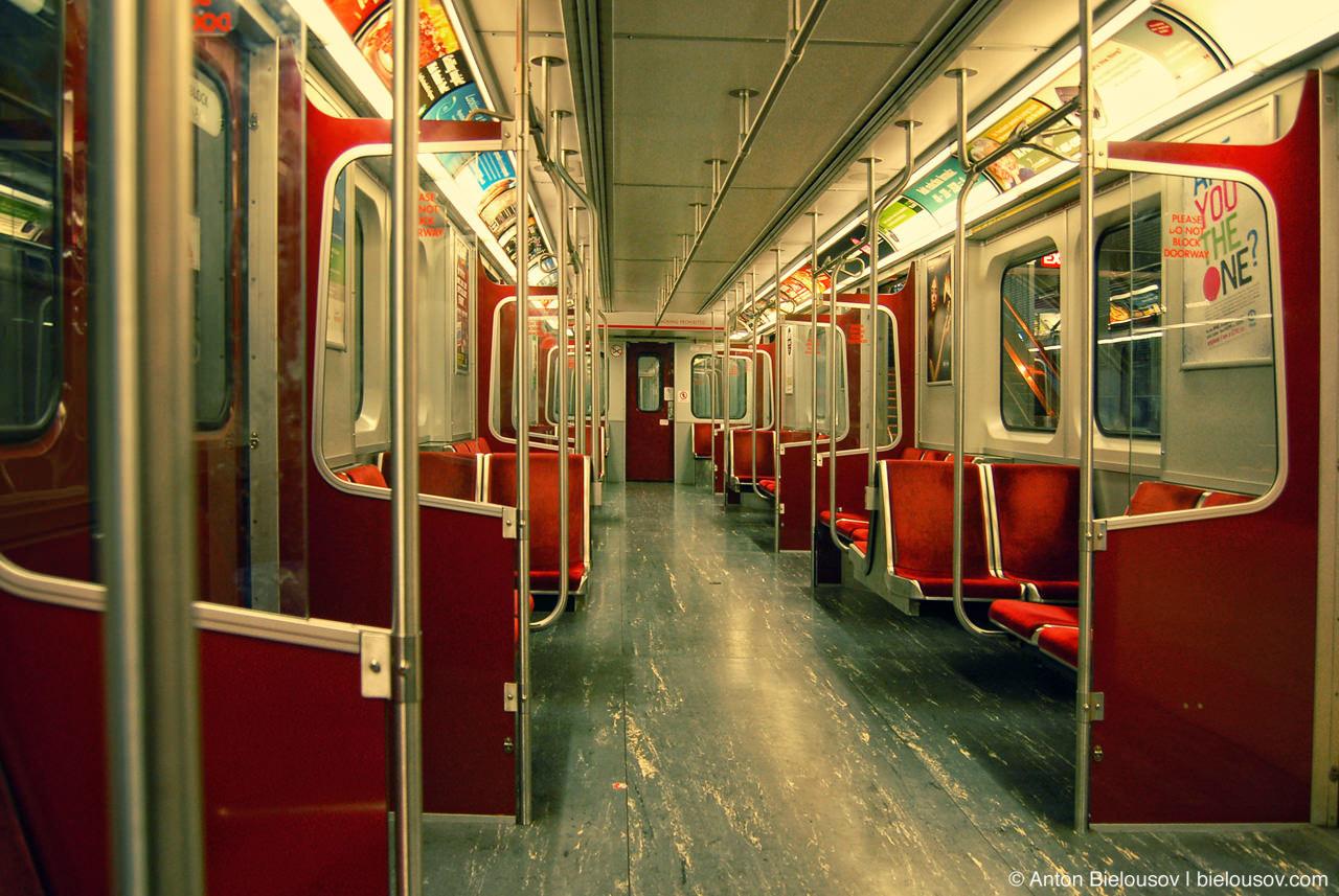 Toronto TTC Subway train car