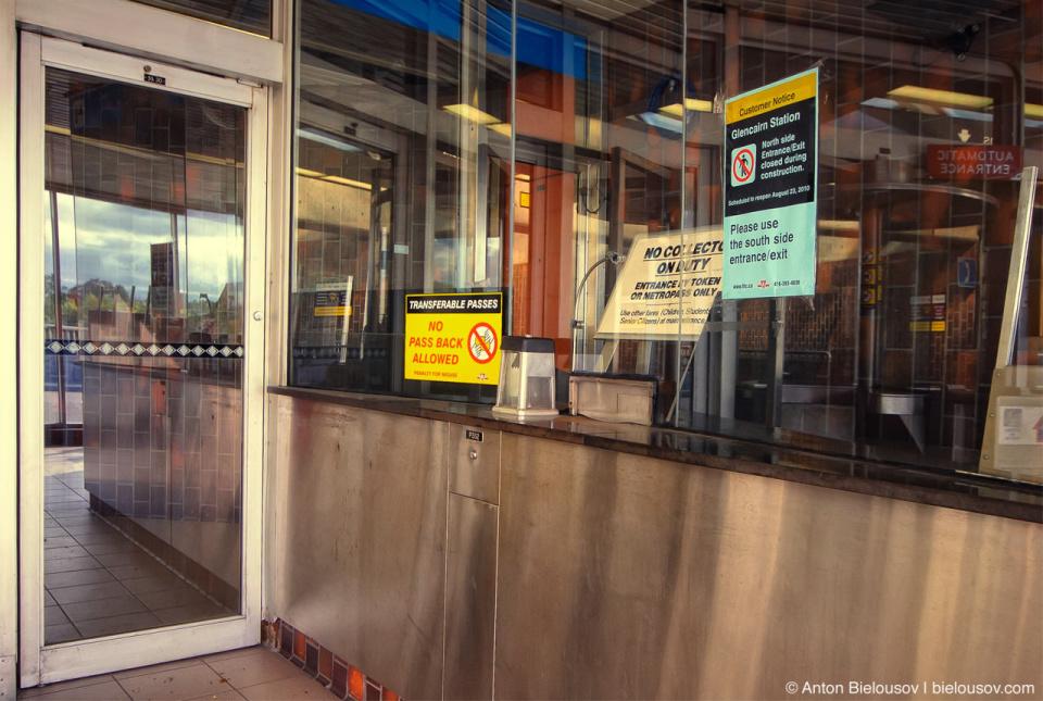 Toronto TTC Subway Station Fares
