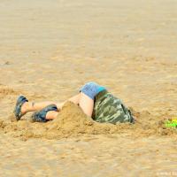 Anton JR Deep in Omaha Beach Sand