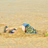 Anton JR Deep in Omaha Beach Sand