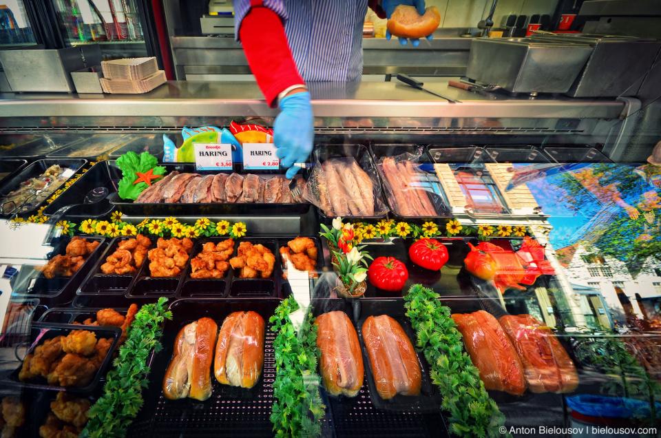 Dutch Herring Sandwiches and Kibbeling