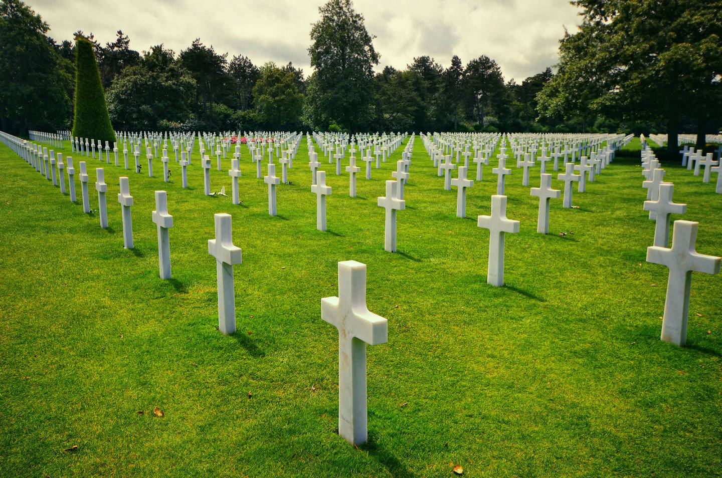 American Cemetery in Normandy (Omaha Beach)