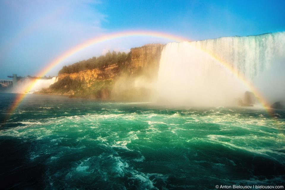 Радуга над Ниагарским водопадом