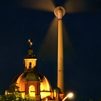 """Radioactive Alert"" at Exhibition Place Windmill Nightshot in Toronto"