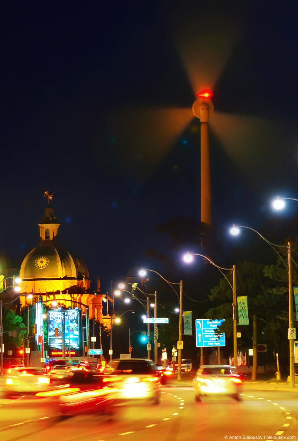 """Radioactive Alert"" at Exhibition Place Windmill Nightshot in Toronto"