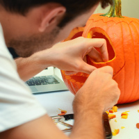Carving Pumpkin Jack
