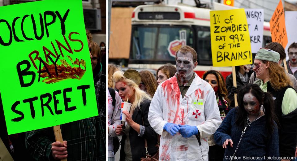 Toronto Zombie Walk 2011 Photo: Occupy Toronto