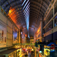 Nuit Blanche: Eatons Centre Splitstream LED Installation