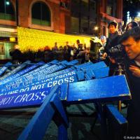Nuit Blanche Toronto: Poice Barricades on Yonge St.