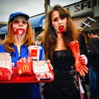 Toronto Zombie Walk 2010, McDonalds Brains