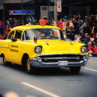 Old Metropolitan Toronto Police Car on Toronto Santa Claus Parade