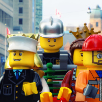 Lego Platform on Toronto Santa Claus Parade
