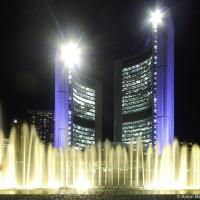 Toronto City Hall at night