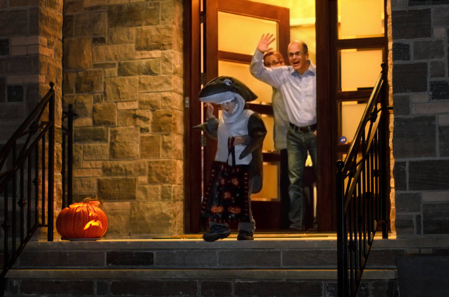 Halloween Trick or Treat in Toronto, Canada