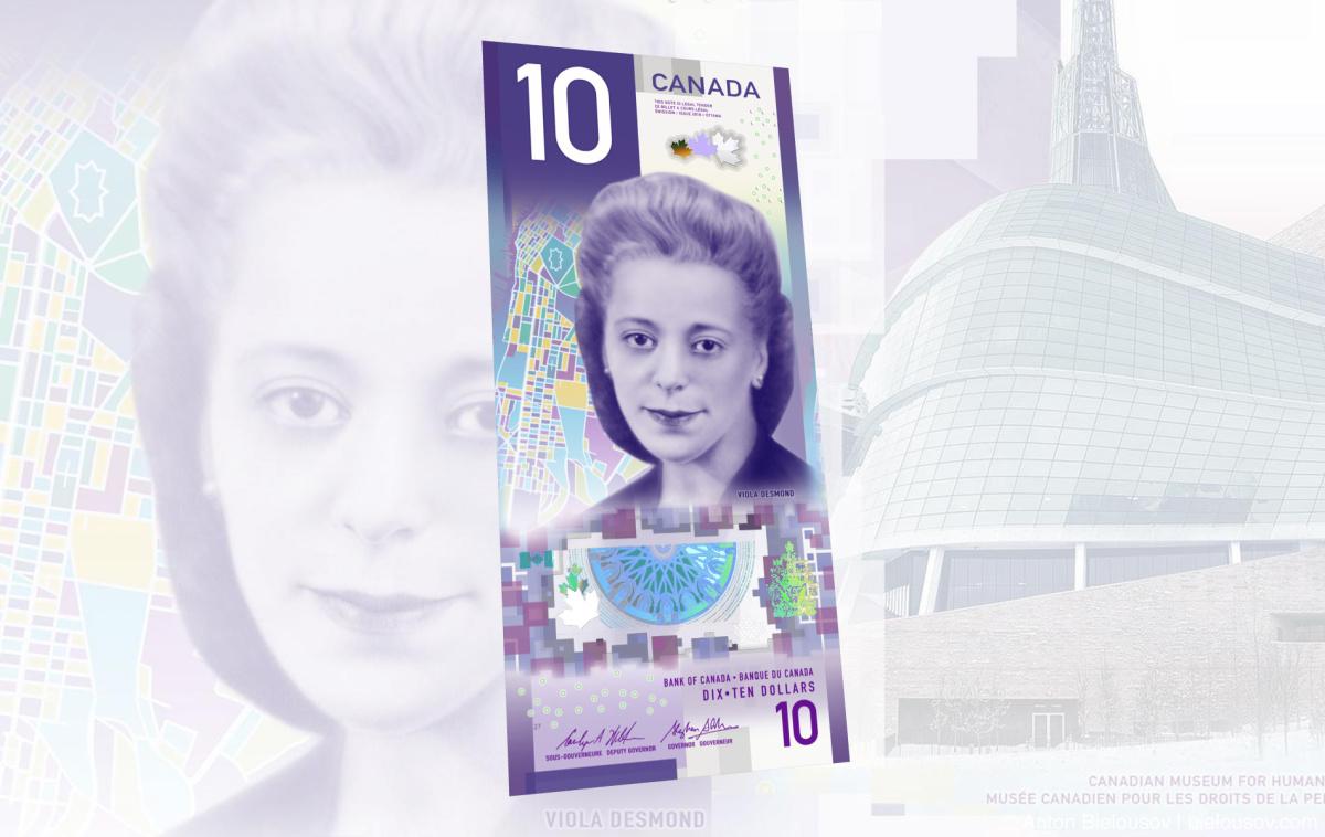 Пластиковая банкнота Канады в $10