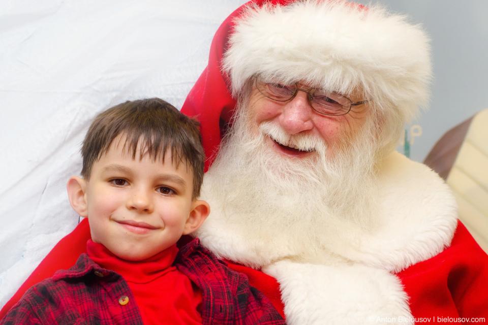 Anton on Santa's Knees