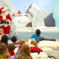 Santa Claus Reading about Charlie Brown at Toronto Eaton's Cente