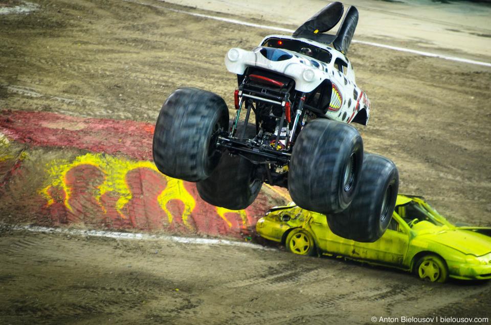 """Monster Jam Trucks, Toronto: """"Monster Mutt"""" Freestyle"""