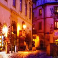 Пражская улица ночью